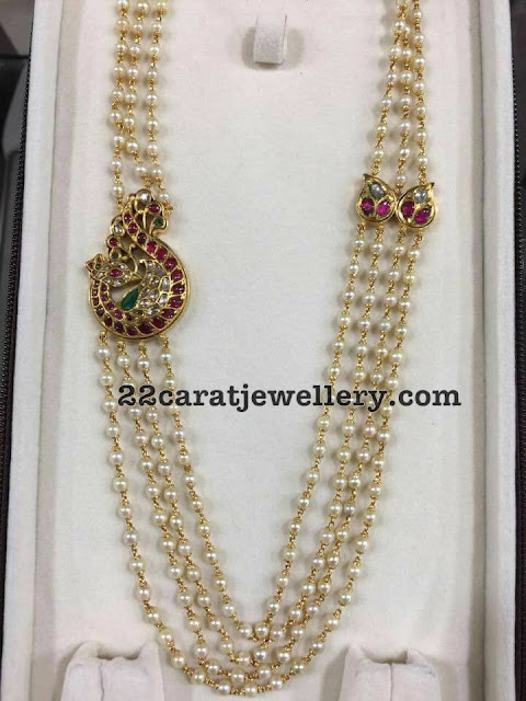 Pearls Long Chain with Side Motif
