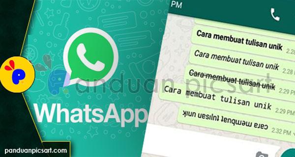 rubah tulisan whatsapp