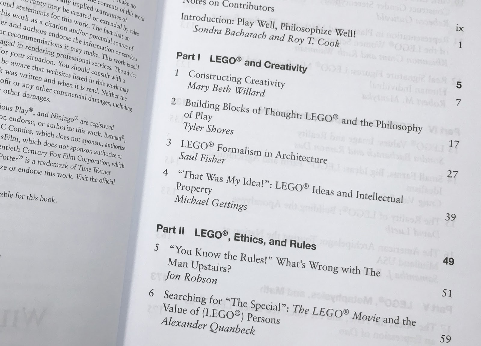 book review lego acirc reg and philosophy new elementary a lego acirc reg blog from the opening essay mary beth willard s constructing creativity there is a sense that lego building improves and aids human experience by developing
