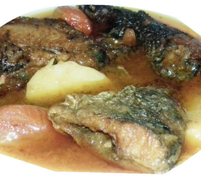 Tilato potato tilapia fish curry recipe