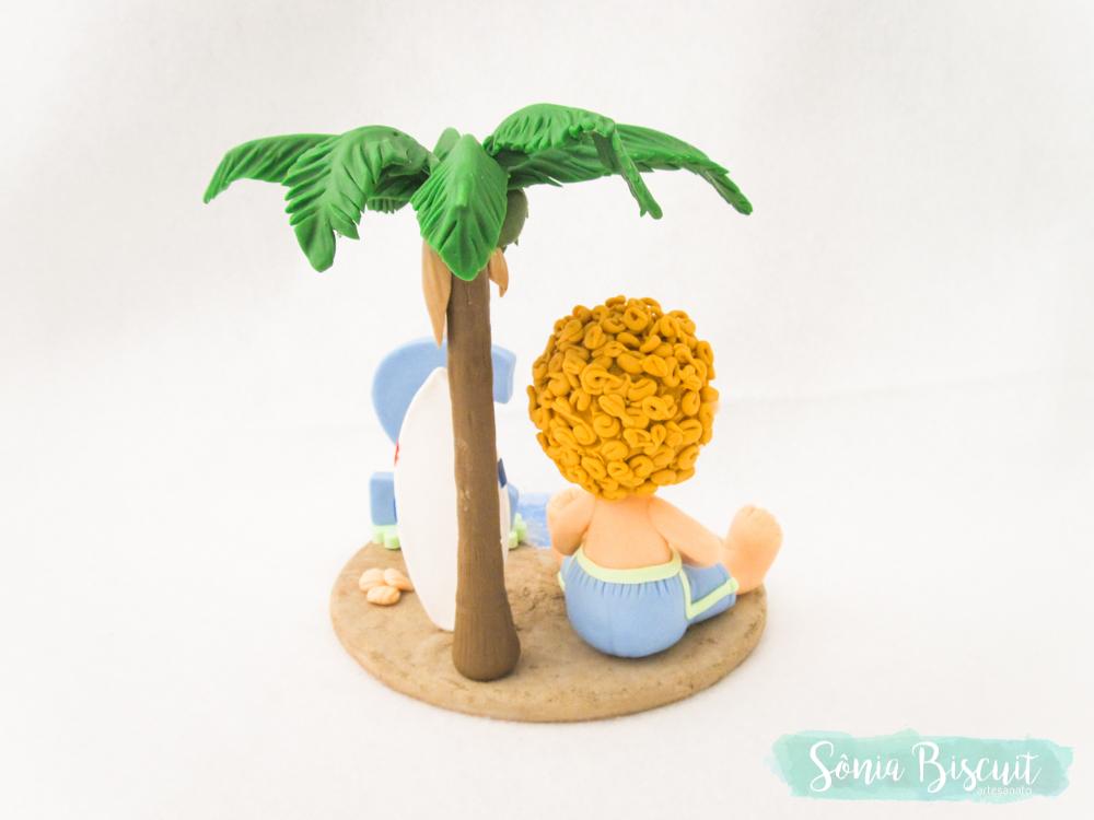 topo de bolo, praia, menininho, menino, biscuit, sonia biscuit