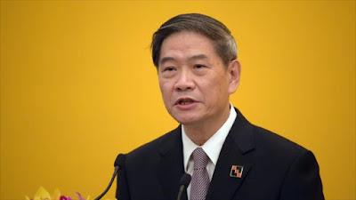 El jefe de Asuntos de Taiwán de la parte continental china, Zhang Zhijun.