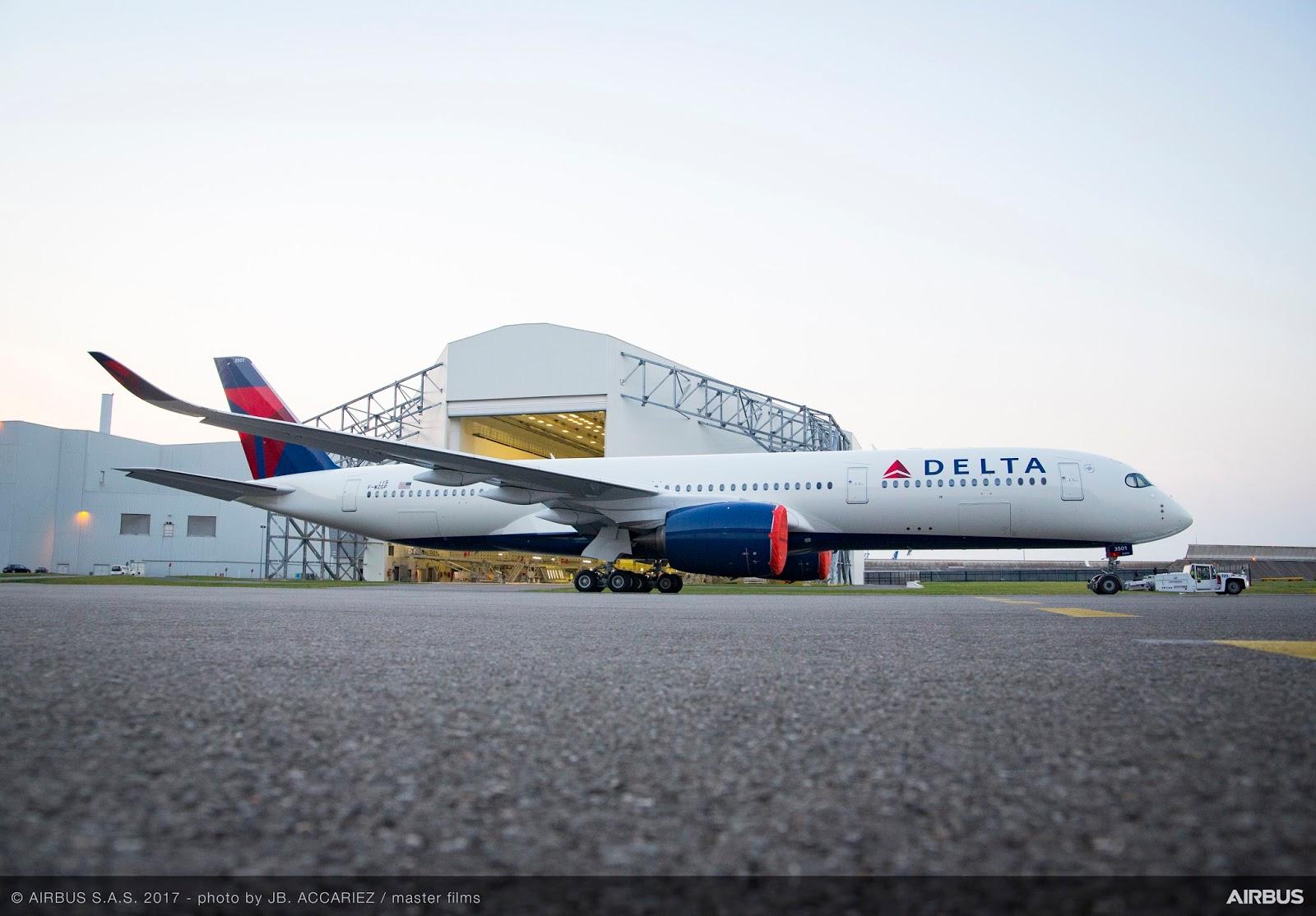 Primeiro olhar do A350 da Delta Air Lines