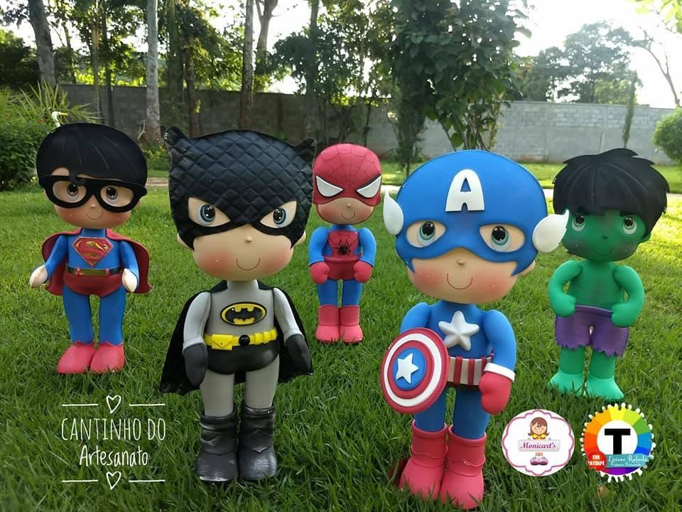 Super Herois De Eva Com Moldes Para Imprimir Como Fazer