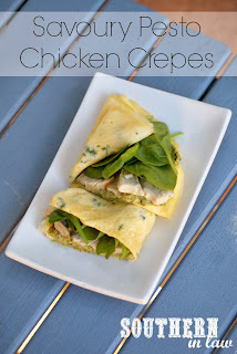Low Carb Chicken Pesto Crepes Recipe