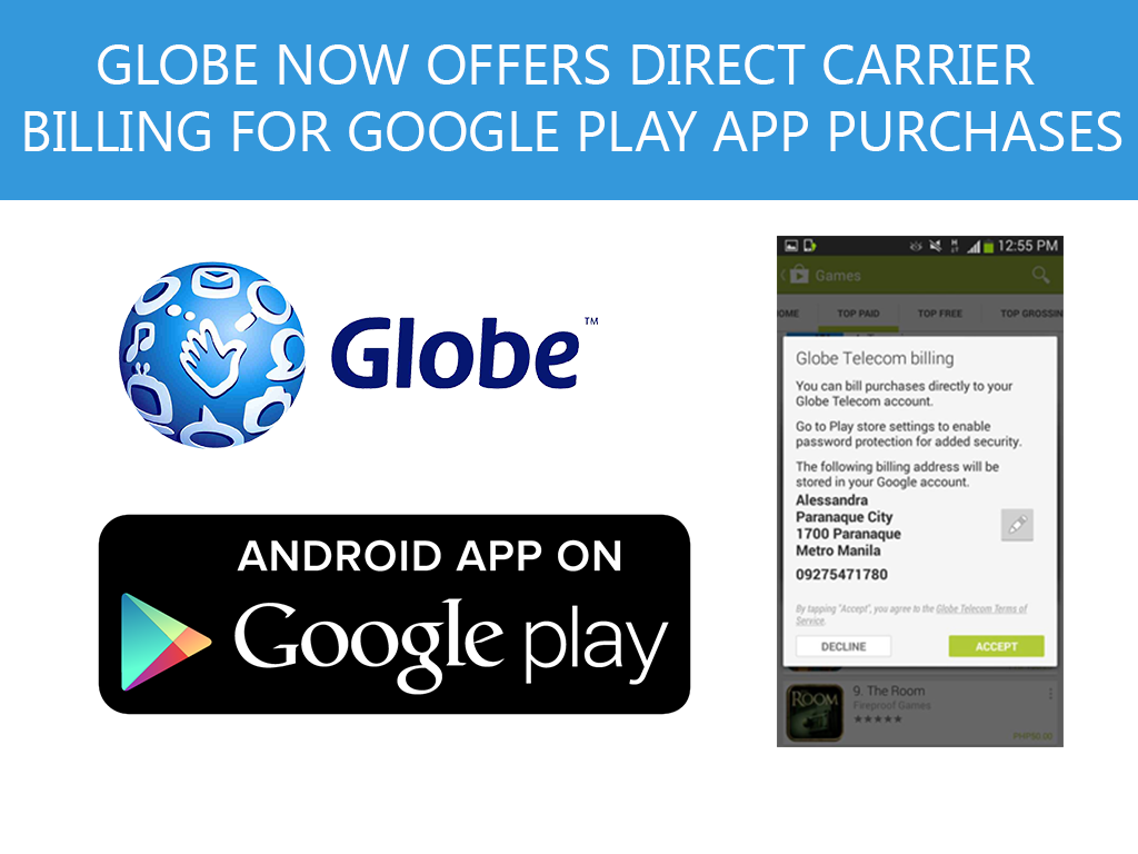 Globe offers Carrier Billing for Google Play Store App Purchases