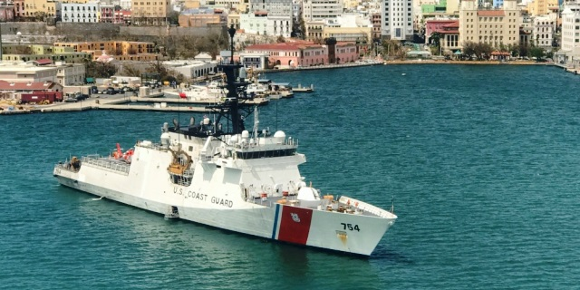 USCG photo of U.S. Coast Guard Cutter James in San Juan, Puerto Rico, Sep 25, 2017