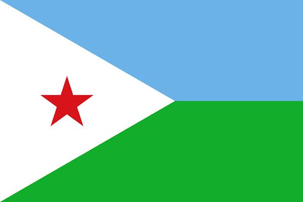 Logo Gambar Bendera Negara Djibouti PNG JPG ukuran 600 px