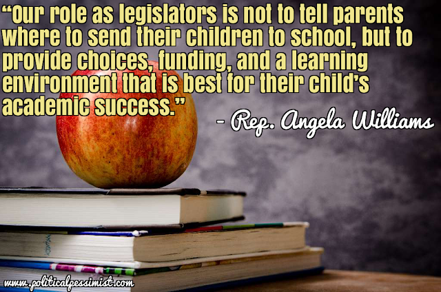 Angela Williams quote, school choice