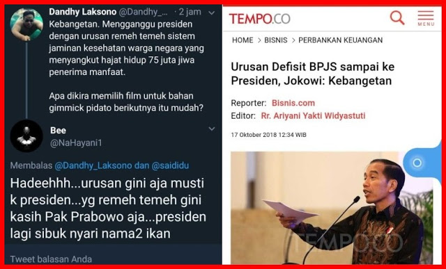 Jokowi Sebut Kebangetan Urusan Defisit BPJS sampai ke Presiden, Ini Tanggapan MAKJLEB Warganet