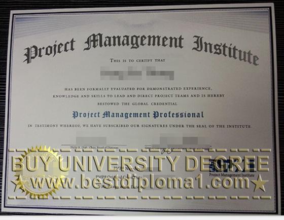 replica PMP diploma, buy PMP certificate