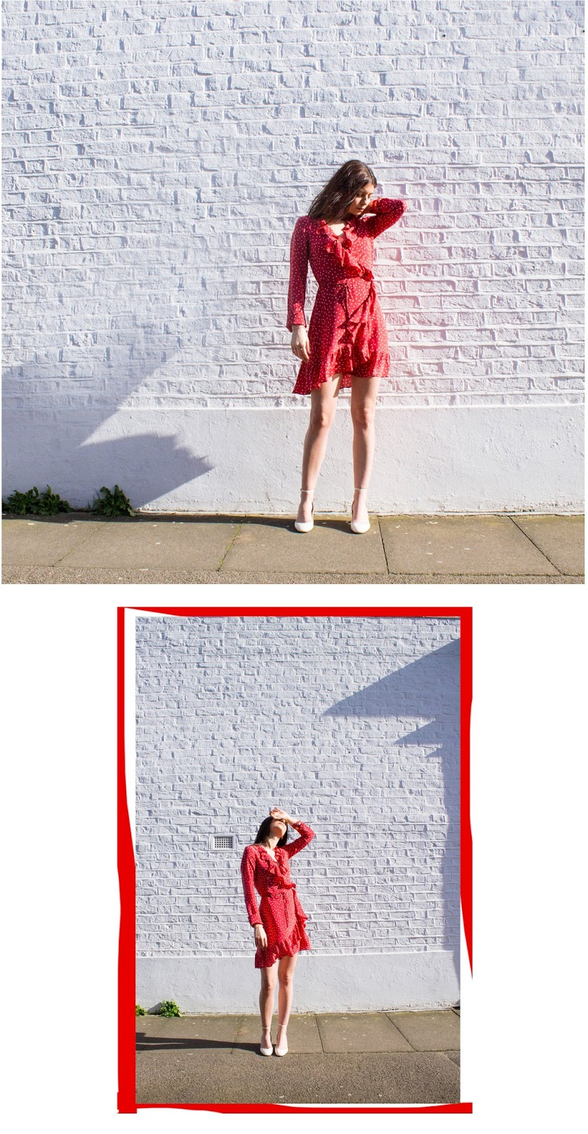 fashion blogger, london blogger, microinfluencer, valentino, valentino shoes, valentino tango pumps, red, realisation par, ruffle dress, accessorize earrings, Z for accessorize