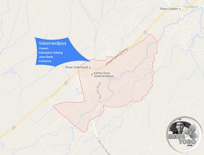 PETA Desa Sukamandijaya, Kecamatan Ciasem