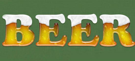 Beer Text Photoshop Tutorial