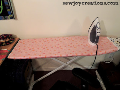 lowered ironing board