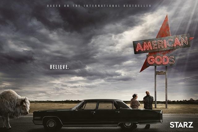 Cartel promocional de 'American Gods'