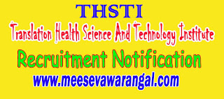 Translation Health Science And Technology Institute THSTI Recruitment Notification 2016