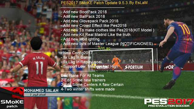 Update Patch PES 2017 Terbaru dari SMoKE Patch 9.5.3