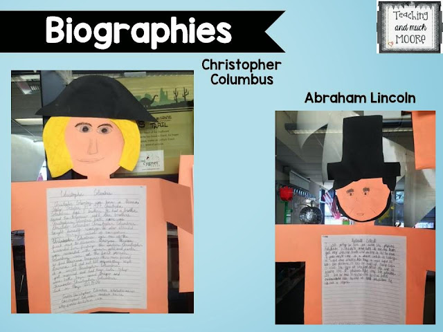 biography craftivity - research project