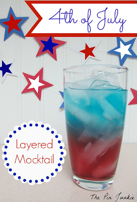 4th of July mocktail
