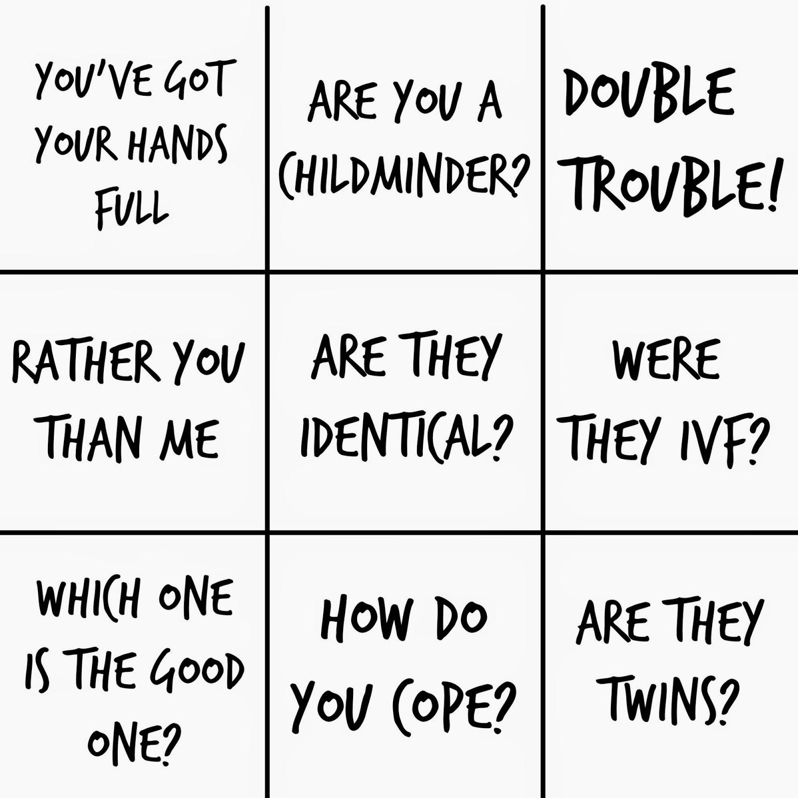 Twin Mum Bingo