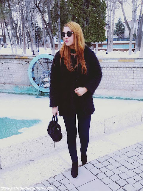 bayan peluş ceket