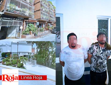 Playa del Carmen, Q. Roo, Mx a 17 de Junio de 2018.- Frustran robo violento en un restaurante del hotel The Royal, ubicado en pleno centro turístico de la ciudad. Hay 3 detenidos.