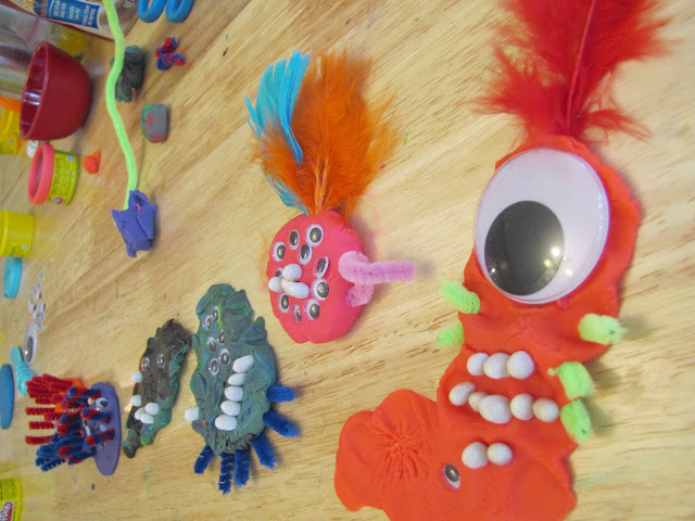 make a monster with play doh