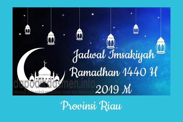 Jadwal Imsakiyah Ramadhan Provinsi Riau