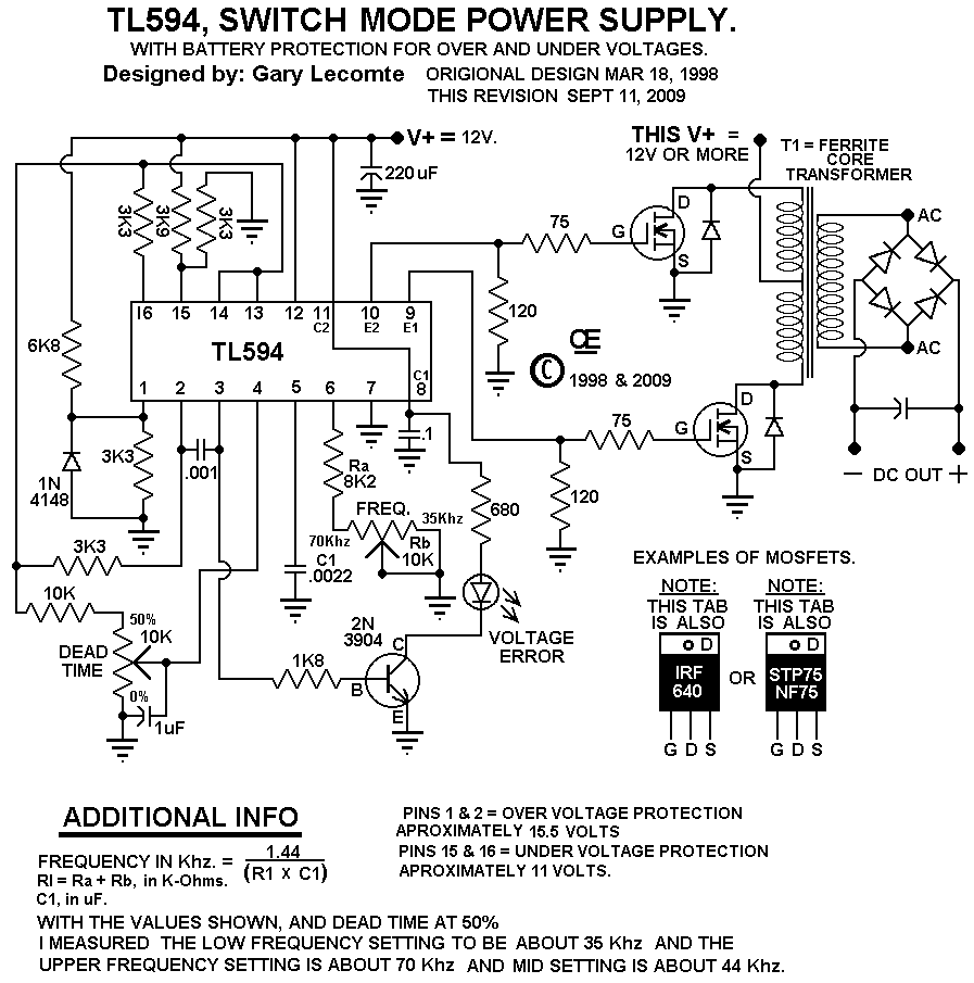 switch mode dc supply