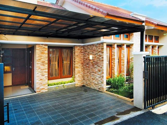 Inspirasi Desain Batu Alam Dinding Teras Rumah Minimalis Dan Modern