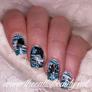 Beach Silhouette nail art