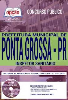baixar Apostila Prefeitura de Ponta Grossa 2018 PDF