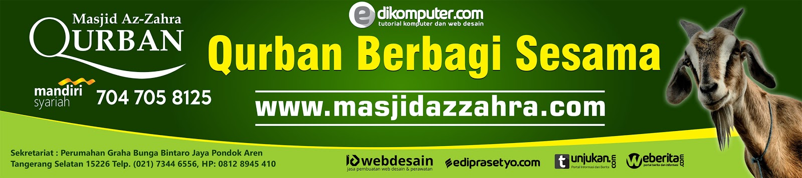 Download Banner Qurban Format Coreldraw