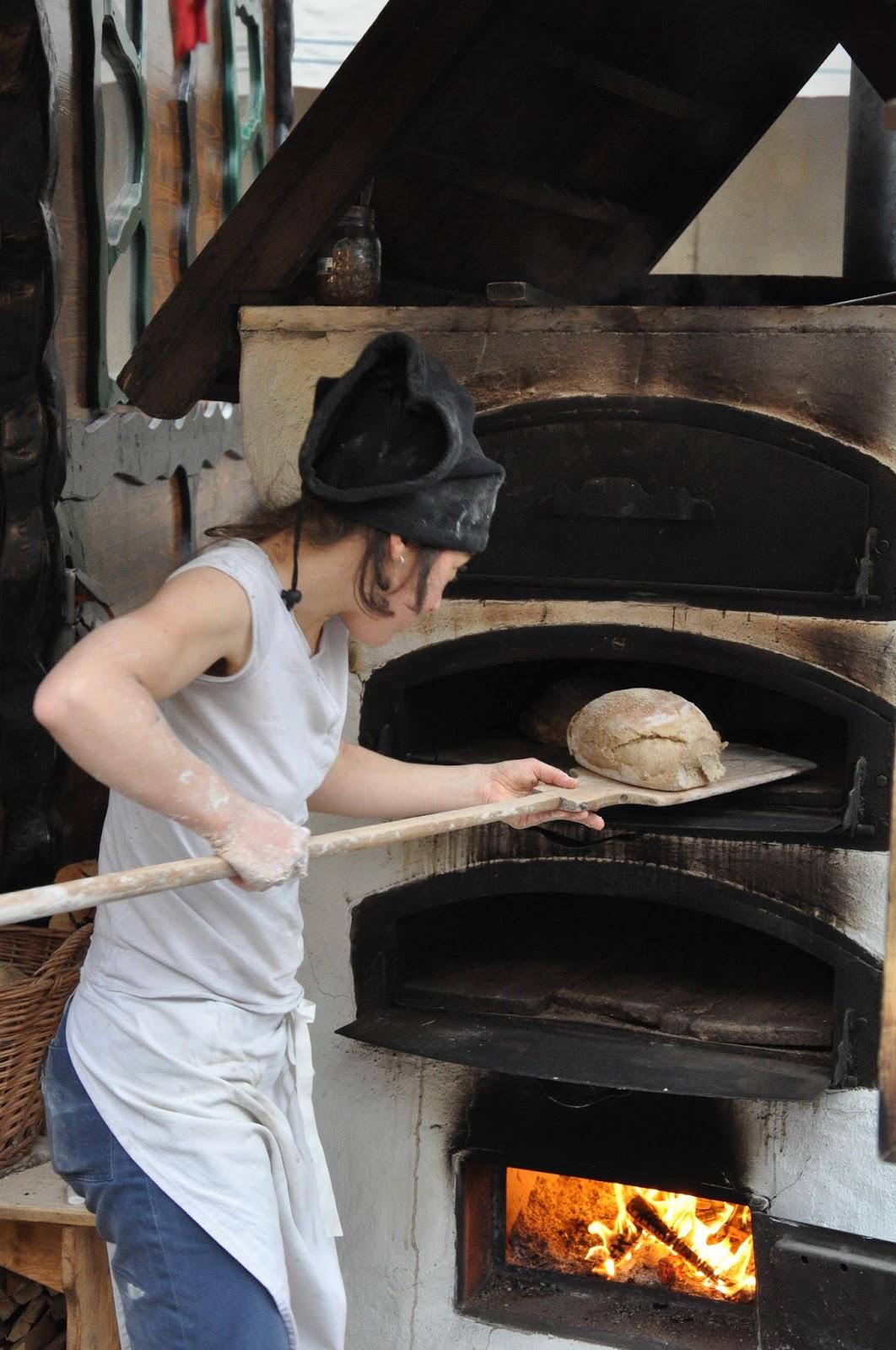 Baking bread, Nuremberg Christmas market, Verona, Italy