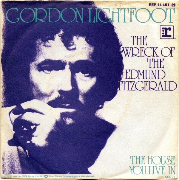 Gordon Lightfoot The Wreck of the Edmund Fitzgerald 1976