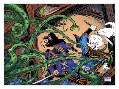 San Diego Comic-Con 2017 Exclusive Usagi Yojimbo Screen Print by Stan Sakai x Mondo