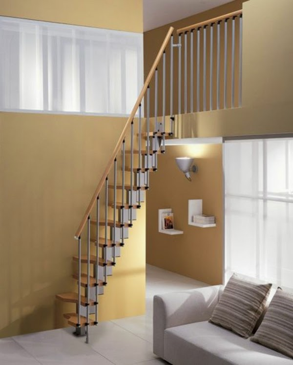 Functional space saving stairs 15 designs and ideas for Escaleras en escuadra