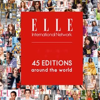 Elle magazine 45 editions around the world.