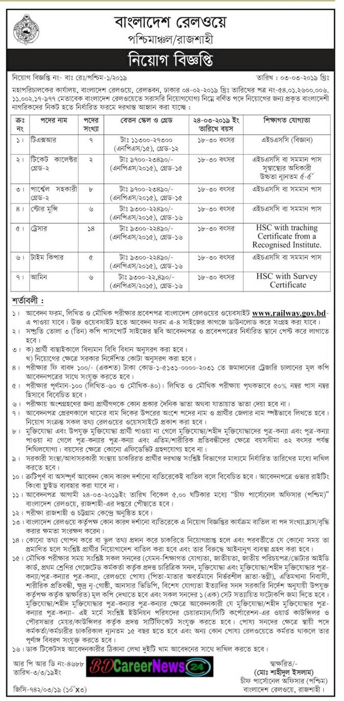 Bangladesh railway job circuler 2019 -phots2