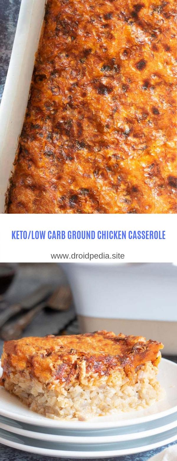 KETO/LOW CARB GROUND CHICKEN CASSEROLE