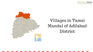 Villages in Tamsi Mandal of Adilabad District