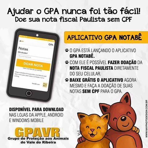"""Conheça o Aplicativo """"Notabê"""" do GPA para cadastrar Nota Fiscal e ajudar a instituição"""