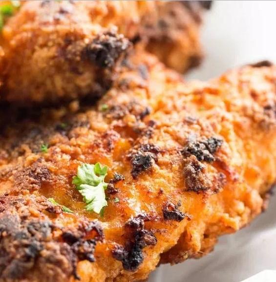 CRISPY OVEN FRIED CHICKEN #KFCrecipe #fastfood