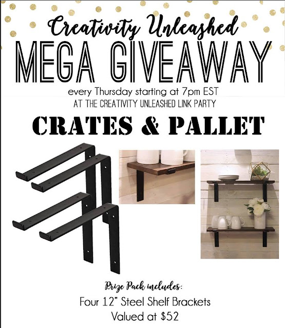 Crates and Pallet Giveaway and Creativity Unleashed Link party #191, MyLove2Create