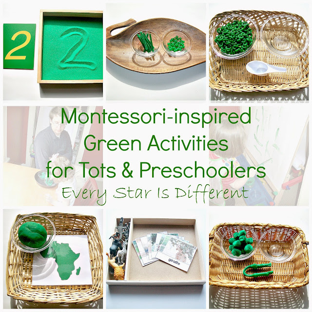 Montessori-inspired Green Activities for Tots and Preschoolers with Free Printables