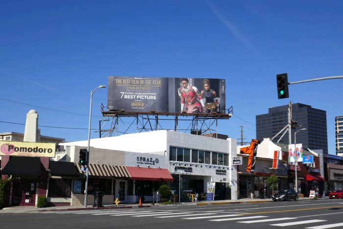 Black Panther Oscar billboard