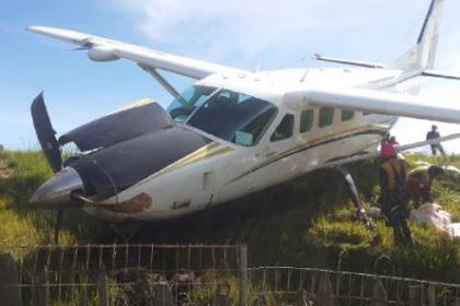 Insiden di Bandara Ilaga Papua, Kali Ini Pesawat Kargo Tergelincir