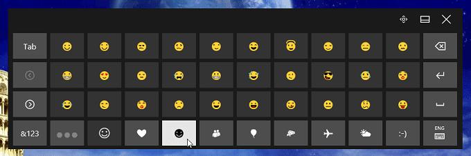 Chèn emoji và emoticon trong máy tính