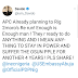 See tweet:Davido;'APC planning to rig tomorrow's Osun state rerun'